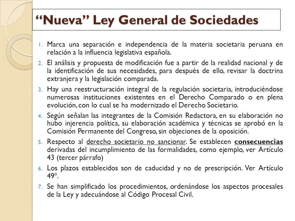 Nueva Ley General de Sociedades