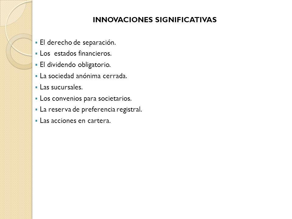 INNOVACIONES SIGNIFICATIVAS