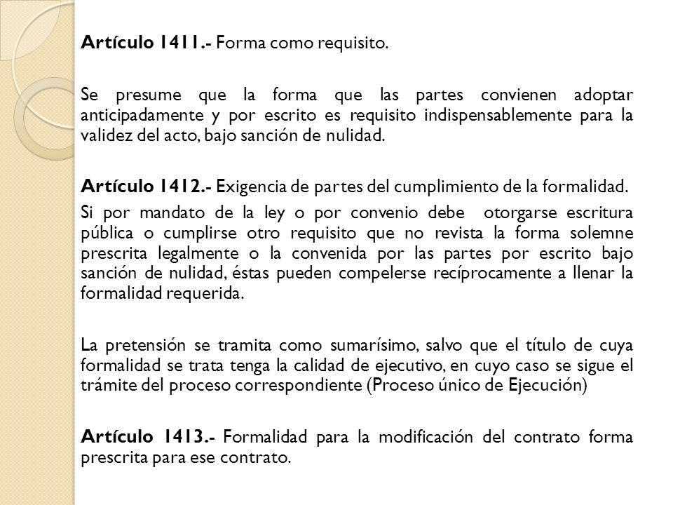 Artículo 1411. - Forma como requisito