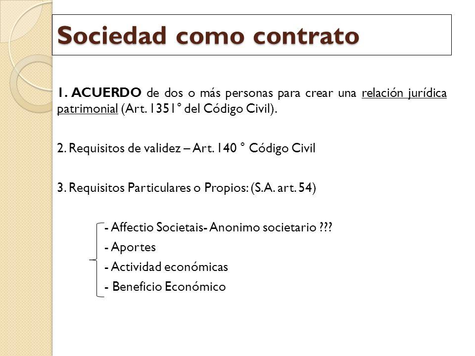 Sociedad como contrato