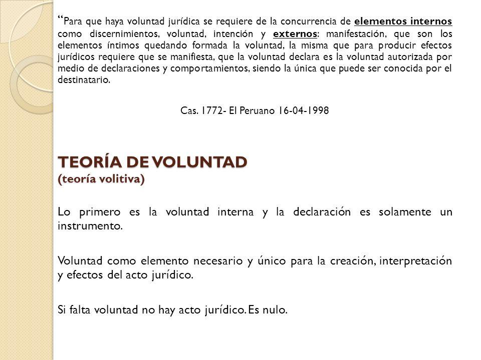 TEORÍA DE VOLUNTAD (teoría volitiva)