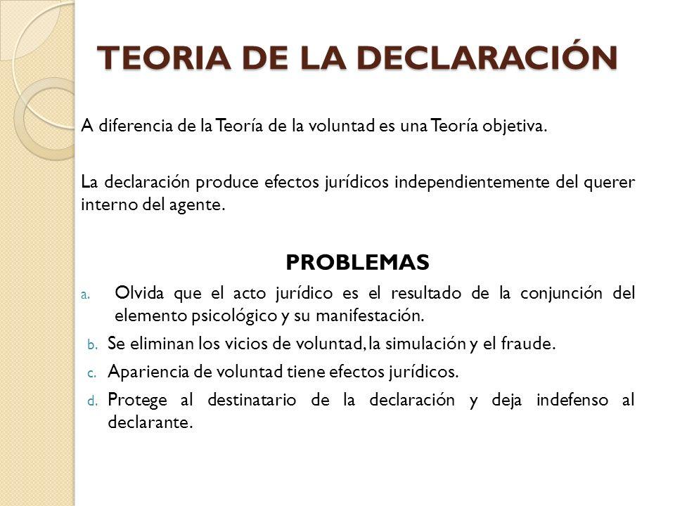 TEORIA DE LA DECLARACIÓN