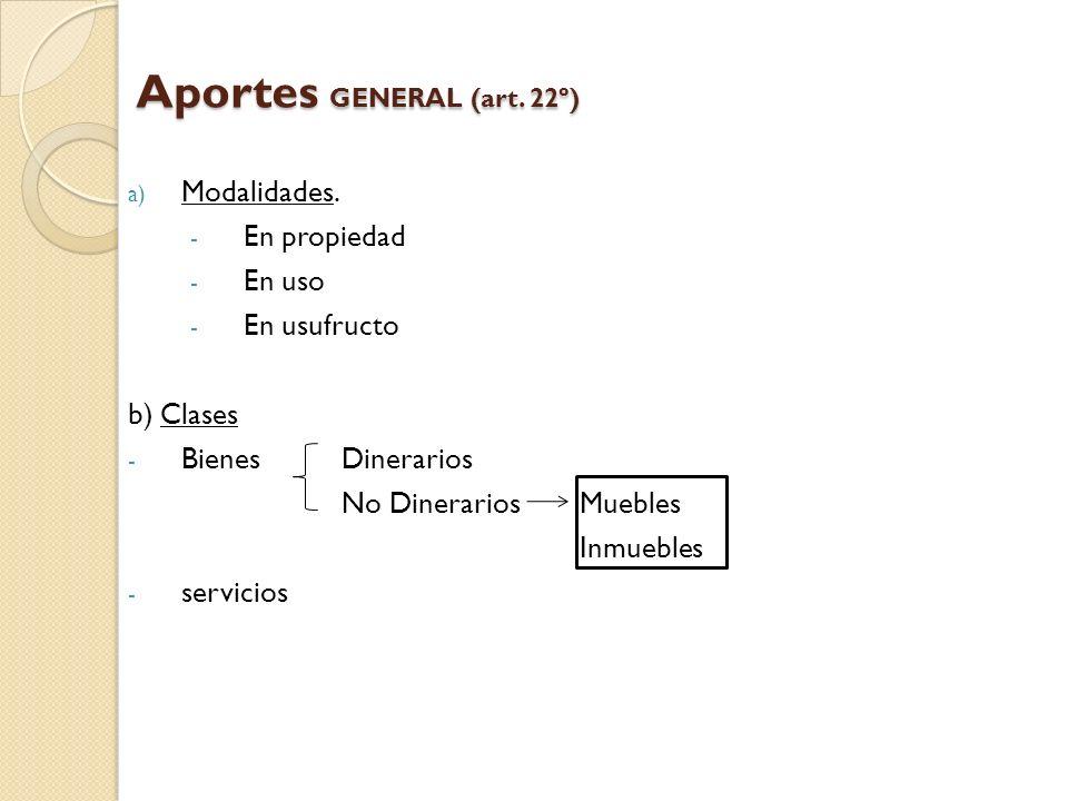 Aportes GENERAL (art. 22º)