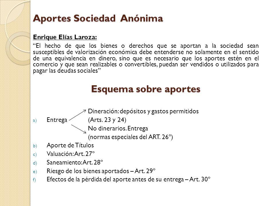 Aportes Sociedad Anónima