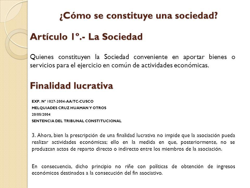 Artículo 1º.- La Sociedad