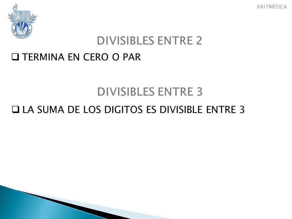 DIVISIBLES ENTRE 2 DIVISIBLES ENTRE 3