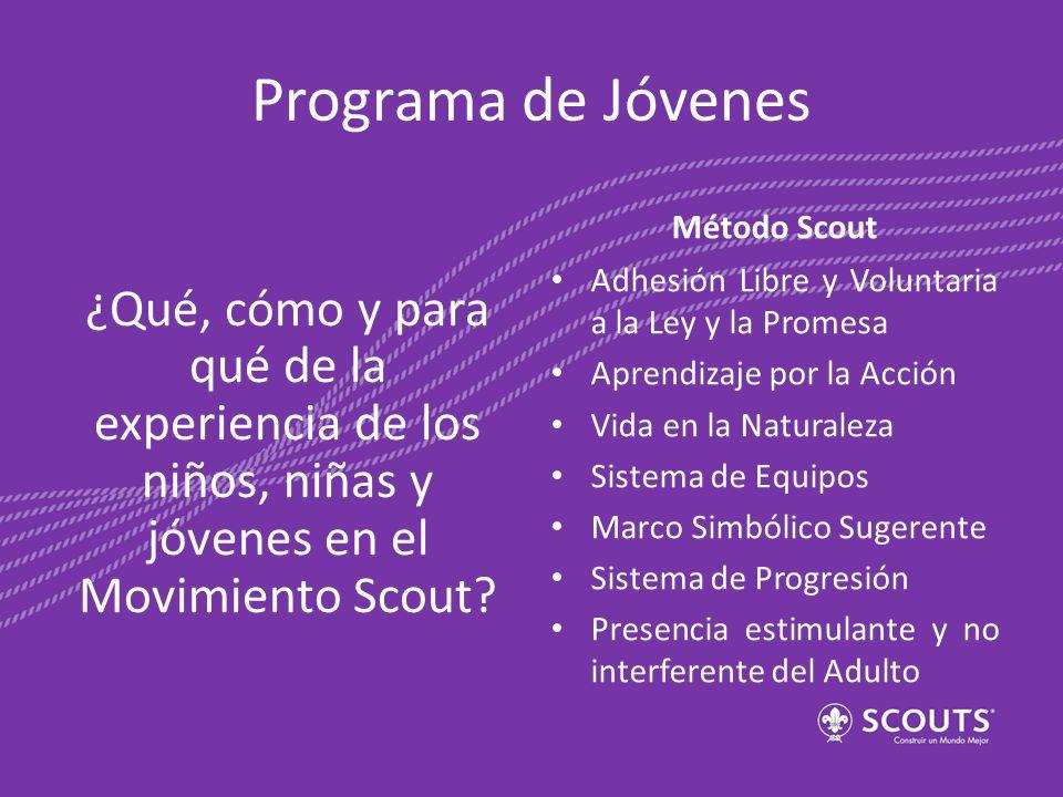 Programa de Jóvenes Método Scout. ¿Qué, cómo y para qué de la experiencia de los niños, niñas y jóvenes en el Movimiento Scout
