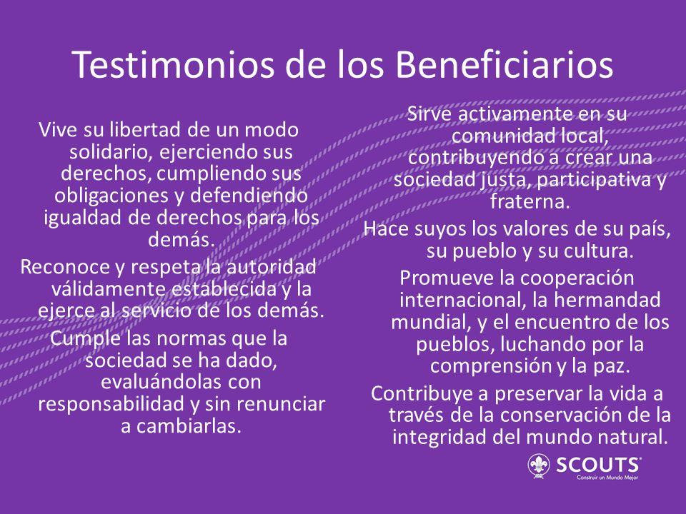 Testimonios de los Beneficiarios