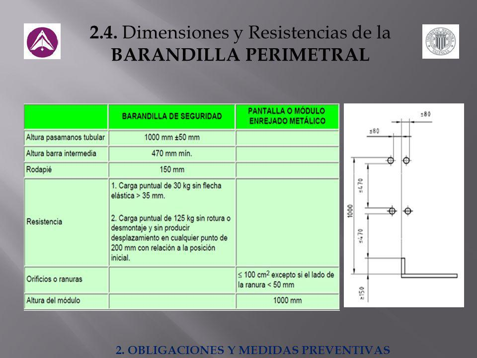 BARANDILLA PERIMETRAL 2. OBLIGACIONES Y MEDIDAS PREVENTIVAS