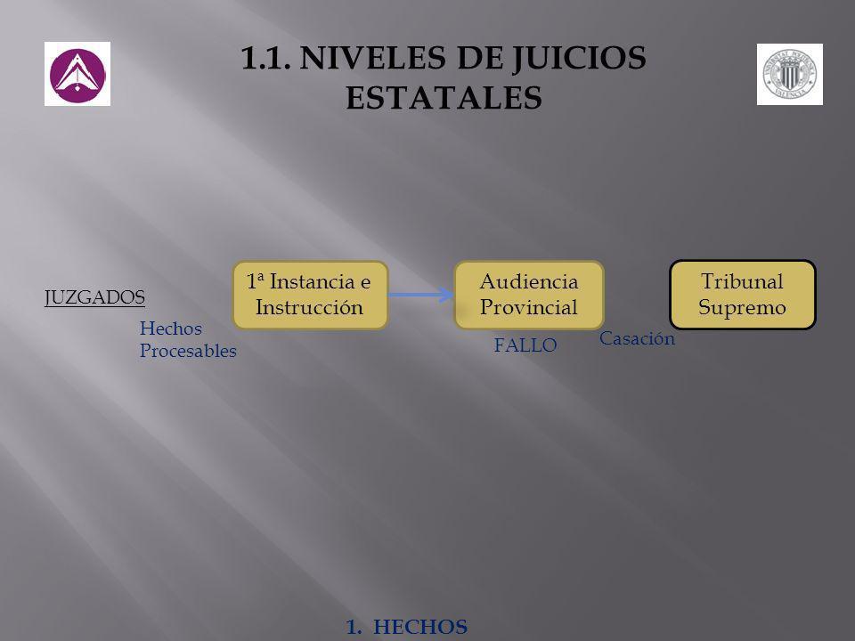 1.1. NIVELES DE JUICIOS ESTATALES