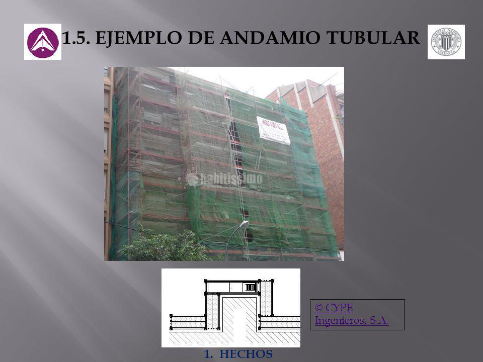 1.5. EJEMPLO DE ANDAMIO TUBULAR