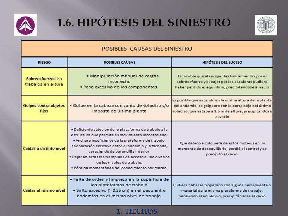 1.6. HIPÓTESIS DEL SINIESTRO
