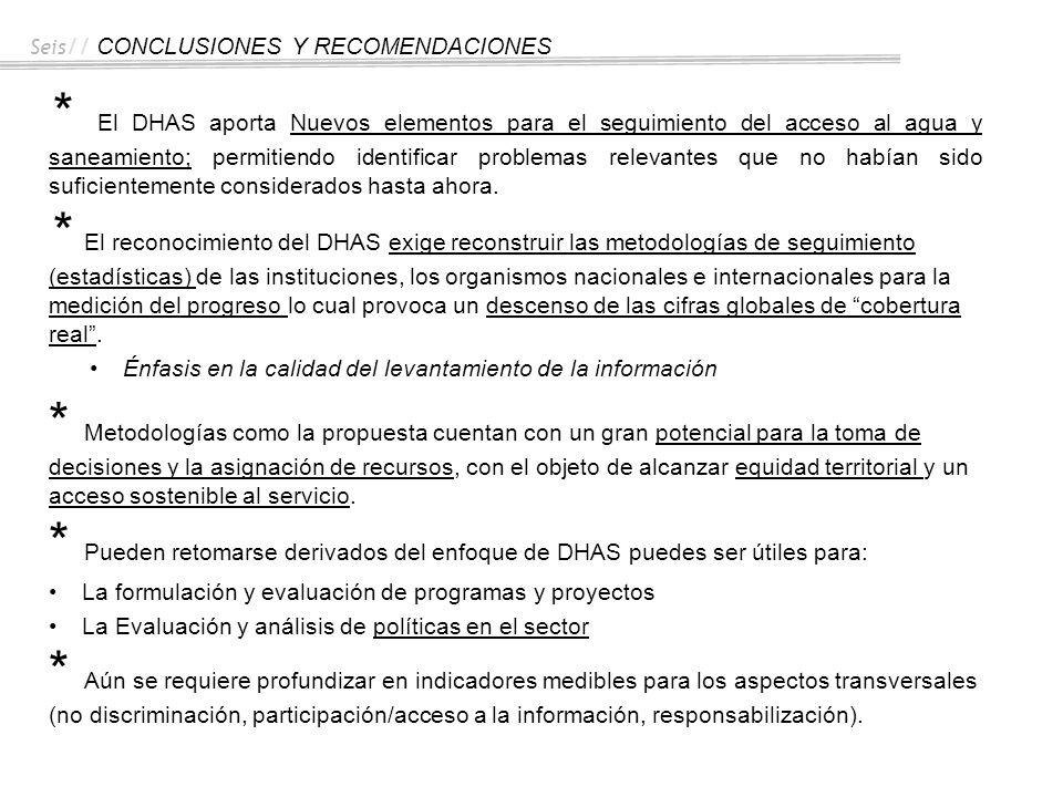 Seis// CONCLUSIONES Y RECOMENDACIONES