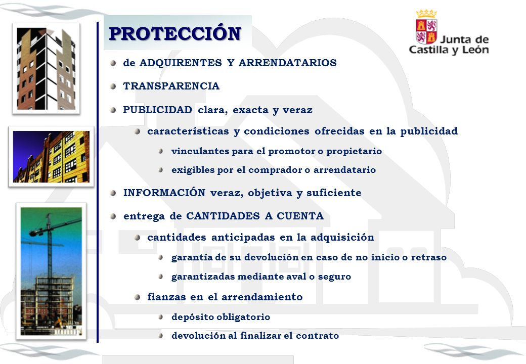PROTECCIÓN de ADQUIRENTES Y ARRENDATARIOS TRANSPARENCIA