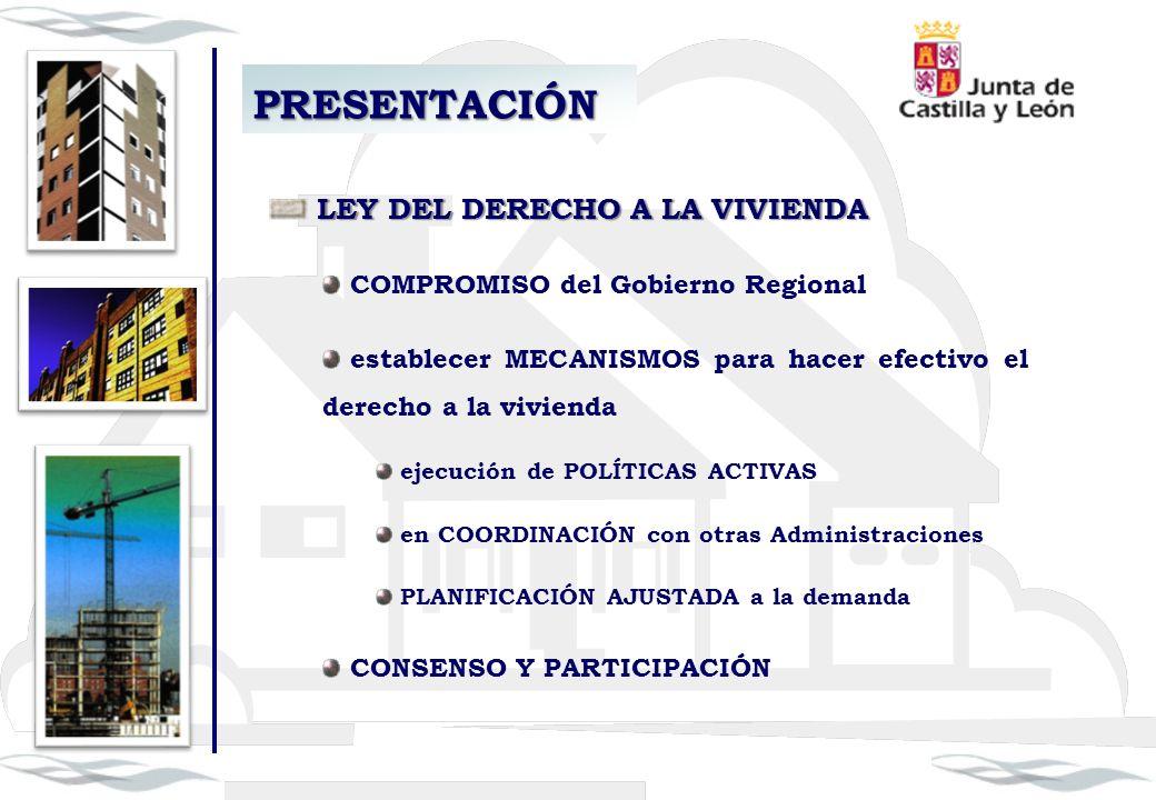 PRESENTACIÓN LEY DEL DERECHO A LA VIVIENDA