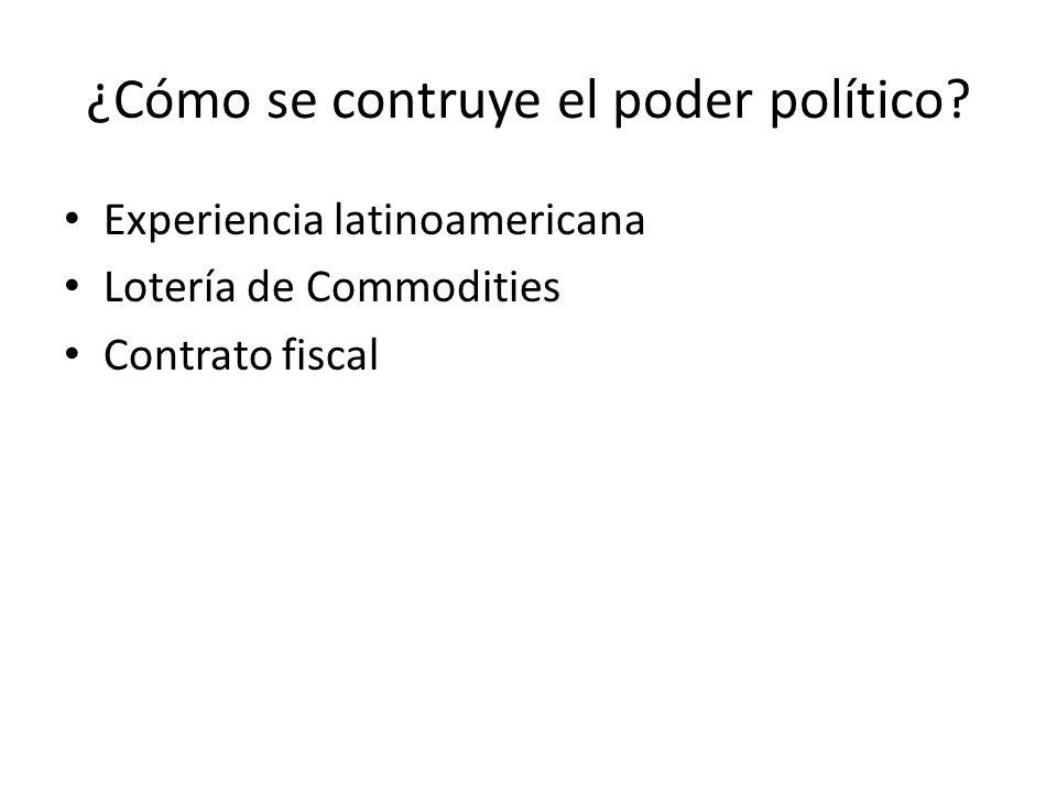 ¿Cómo se contruye el poder político