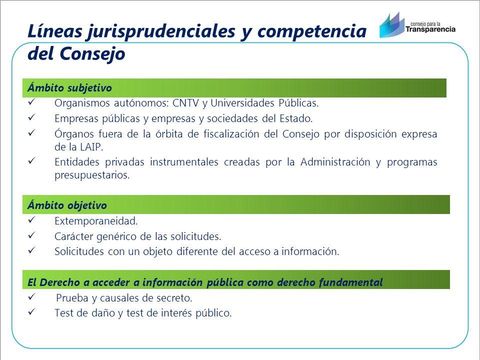 Líneas jurisprudenciales y competencia del Consejo