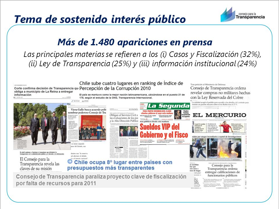 Tema de sostenido interés público