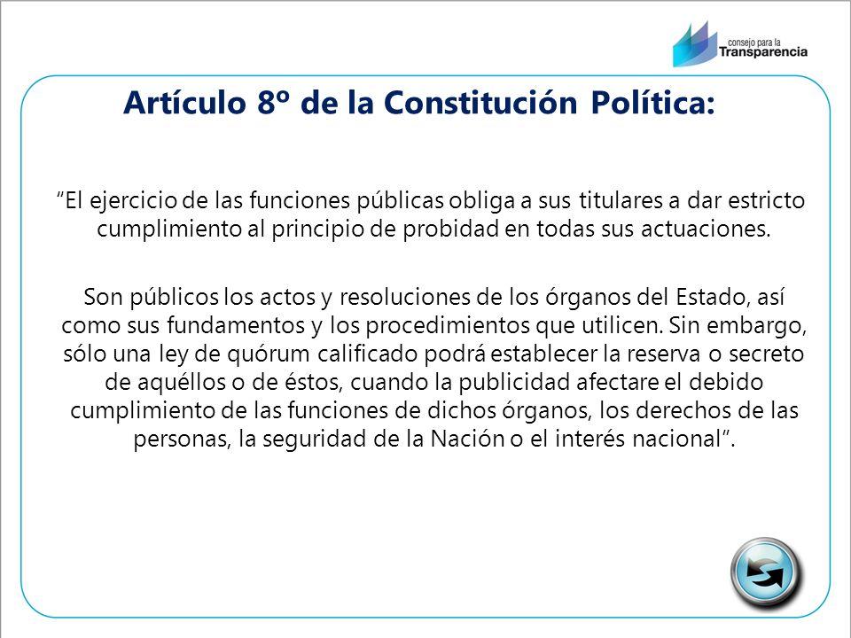 Artículo 8º de la Constitución Política: