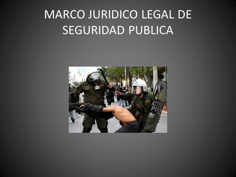 MARCO JURIDICO LEGAL DE SEGURIDAD PUBLICA