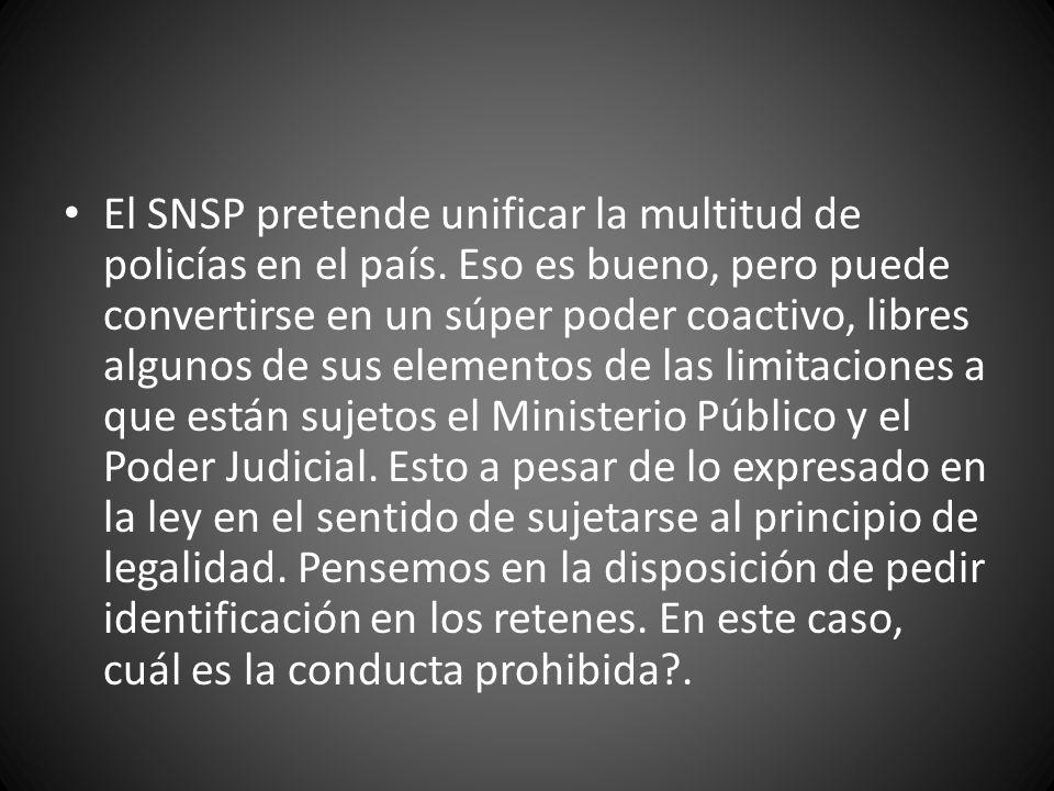 El SNSP pretende unificar la multitud de policías en el país