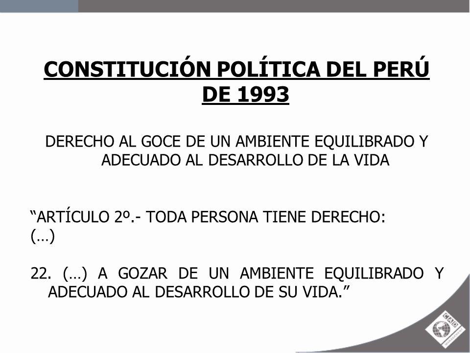 CONSTITUCIÓN POLÍTICA DEL PERÚ DE 1993
