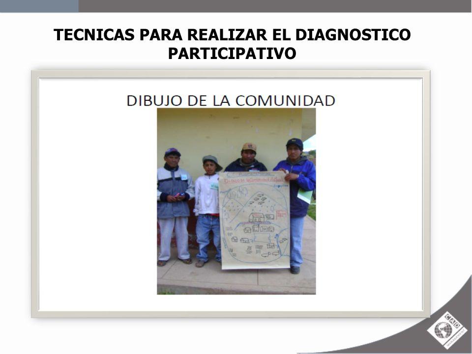 TECNICAS PARA REALIZAR EL DIAGNOSTICO PARTICIPATIVO