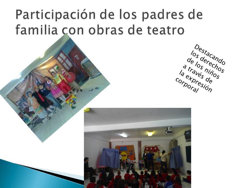 Participación de los padres de familia con obras de teatro
