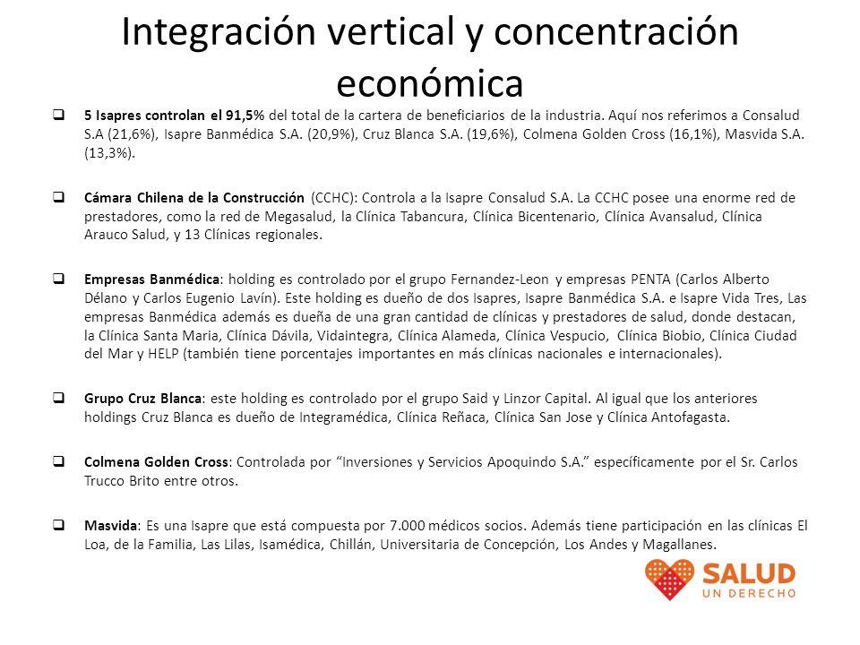 Integración vertical y concentración económica