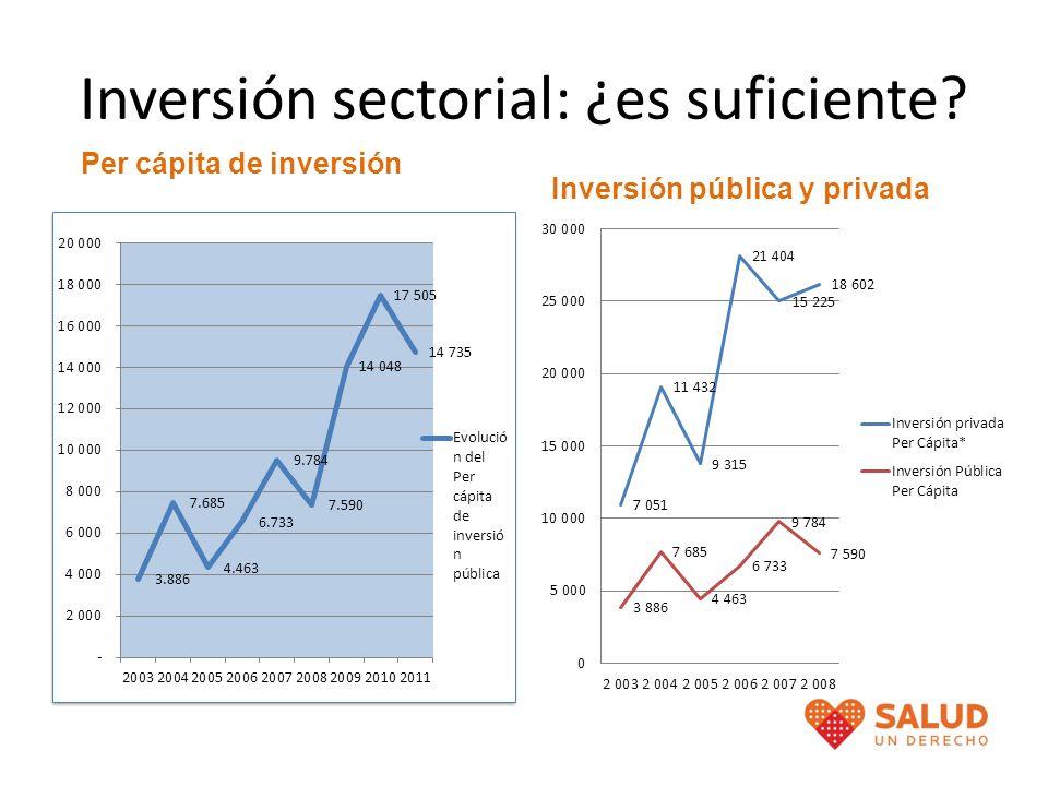 Inversión sectorial: ¿es suficiente