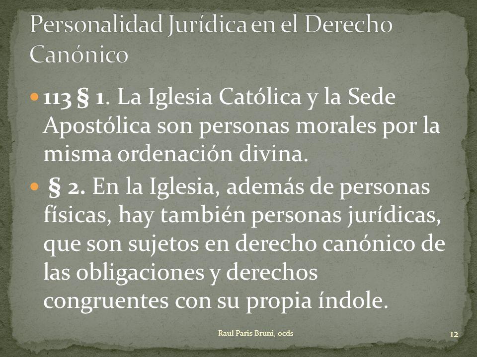 Personalidad Jurídica en el Derecho Canónico
