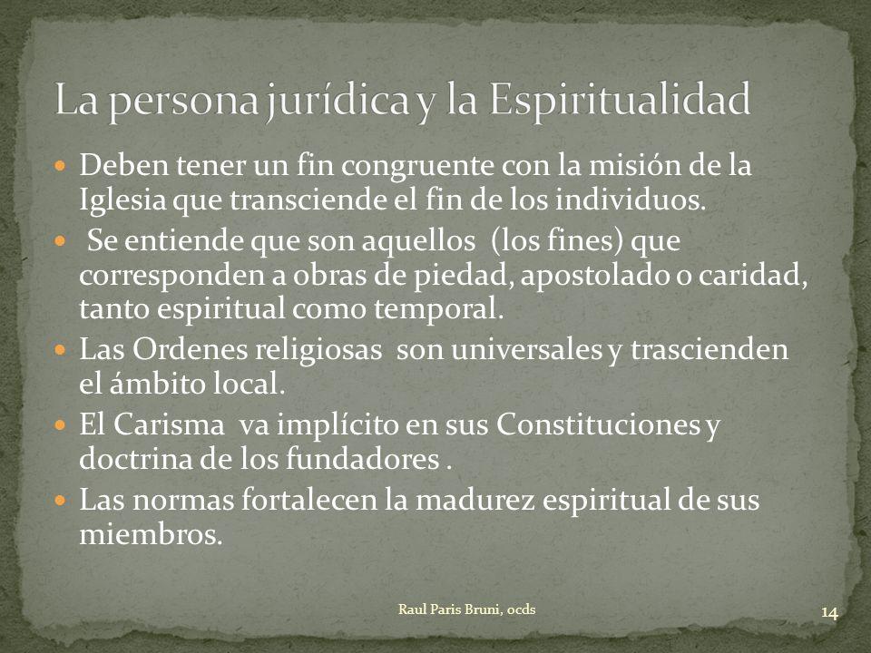 La persona jurídica y la Espiritualidad