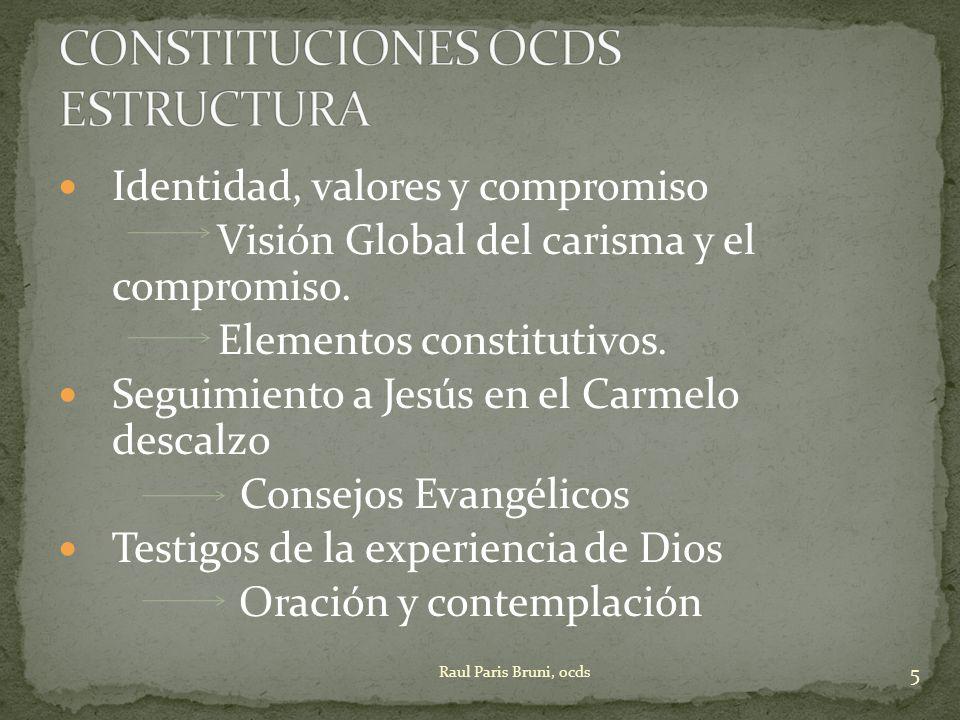 CONSTITUCIONES OCDS ESTRUCTURA