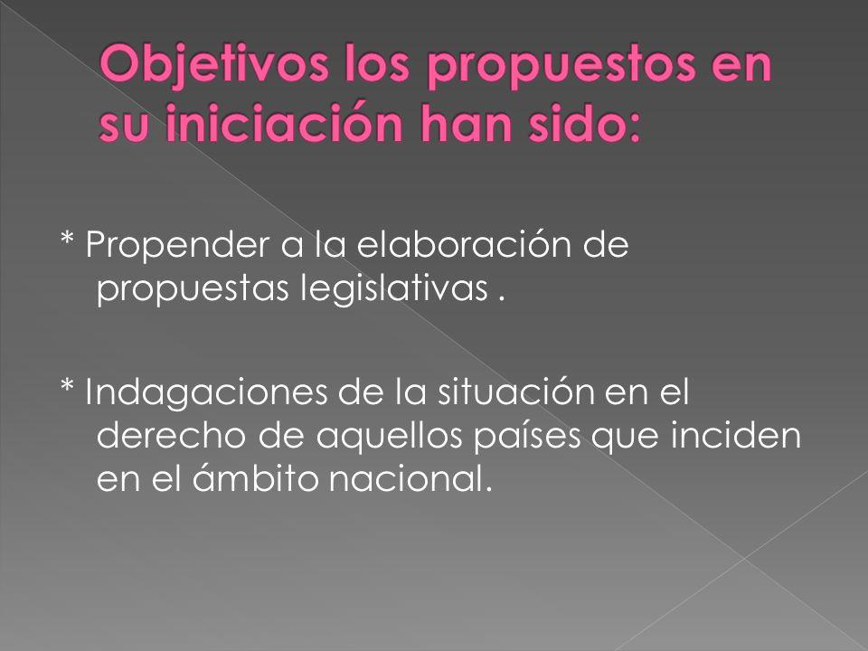 Objetivos los propuestos en su iniciación han sido: