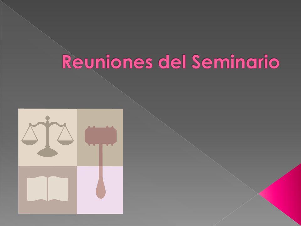 Reuniones del Seminario