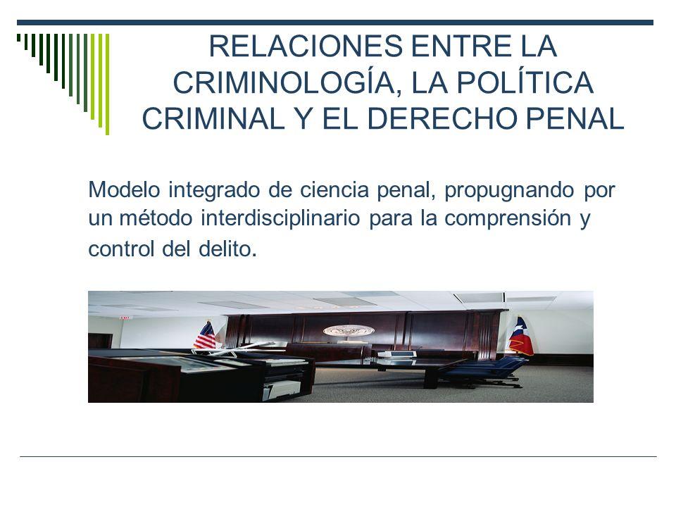 RELACIONES ENTRE LA CRIMINOLOGÍA, LA POLÍTICA CRIMINAL Y EL DERECHO PENAL
