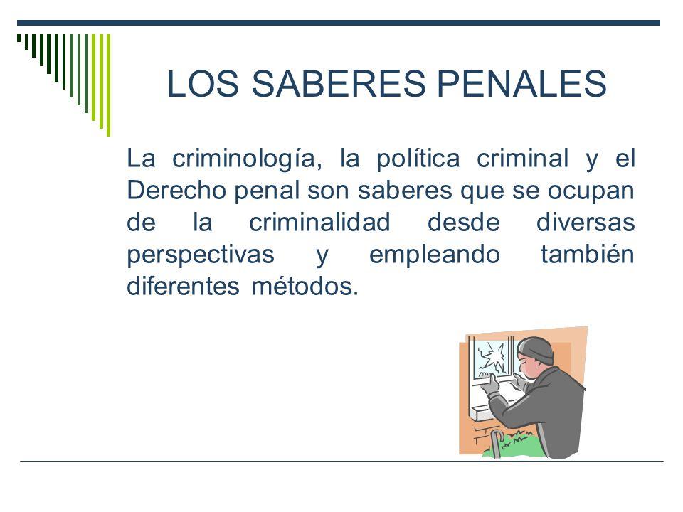 LOS SABERES PENALES