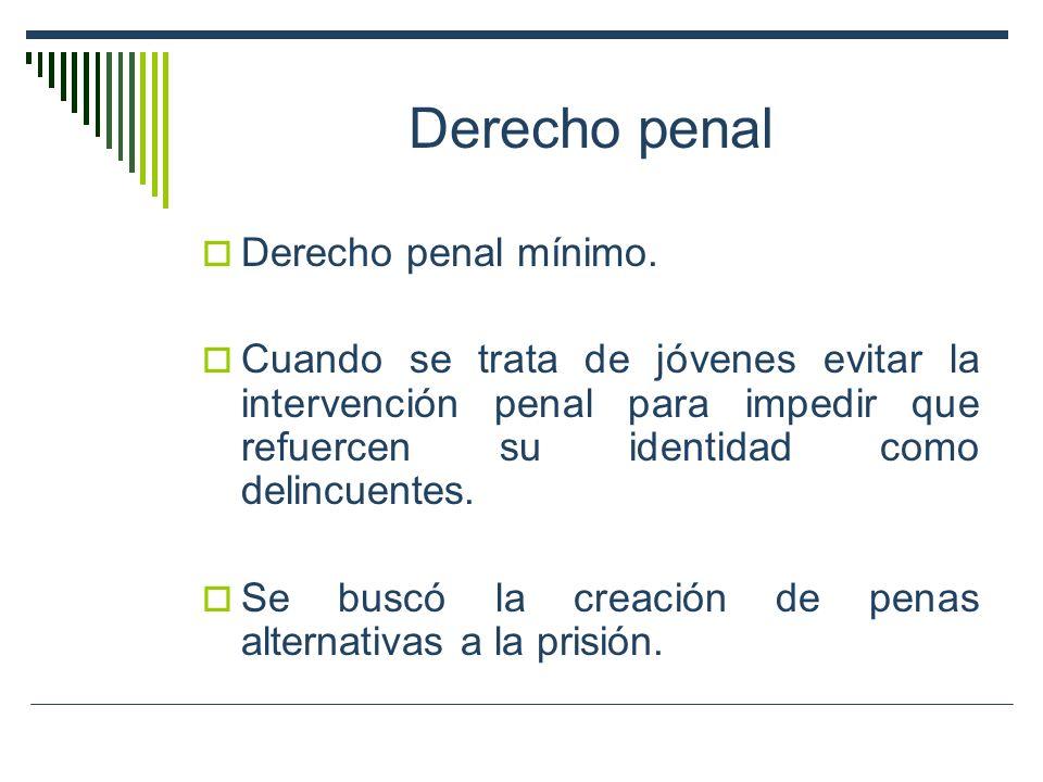 Derecho penal Derecho penal mínimo.