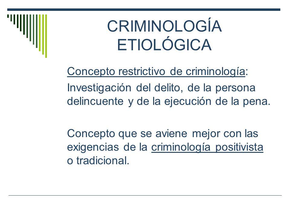 CRIMINOLOGÍA ETIOLÓGICA