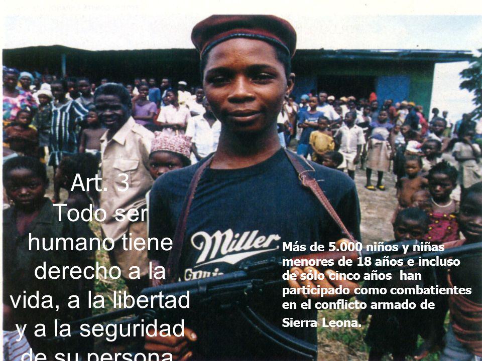 Art. 3 Todo ser humano tiene derecho a la vida, a la libertad y a la seguridad de su persona.