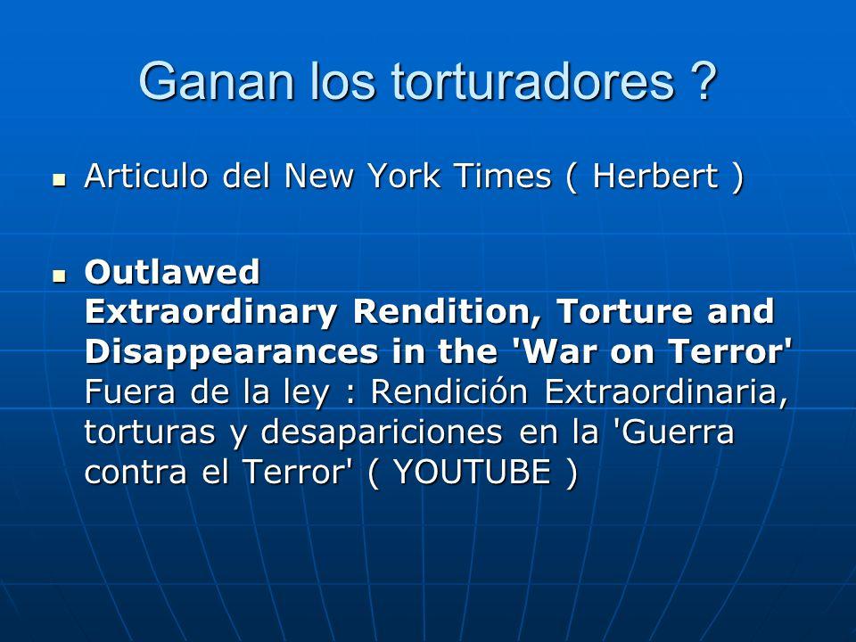 Ganan los torturadores