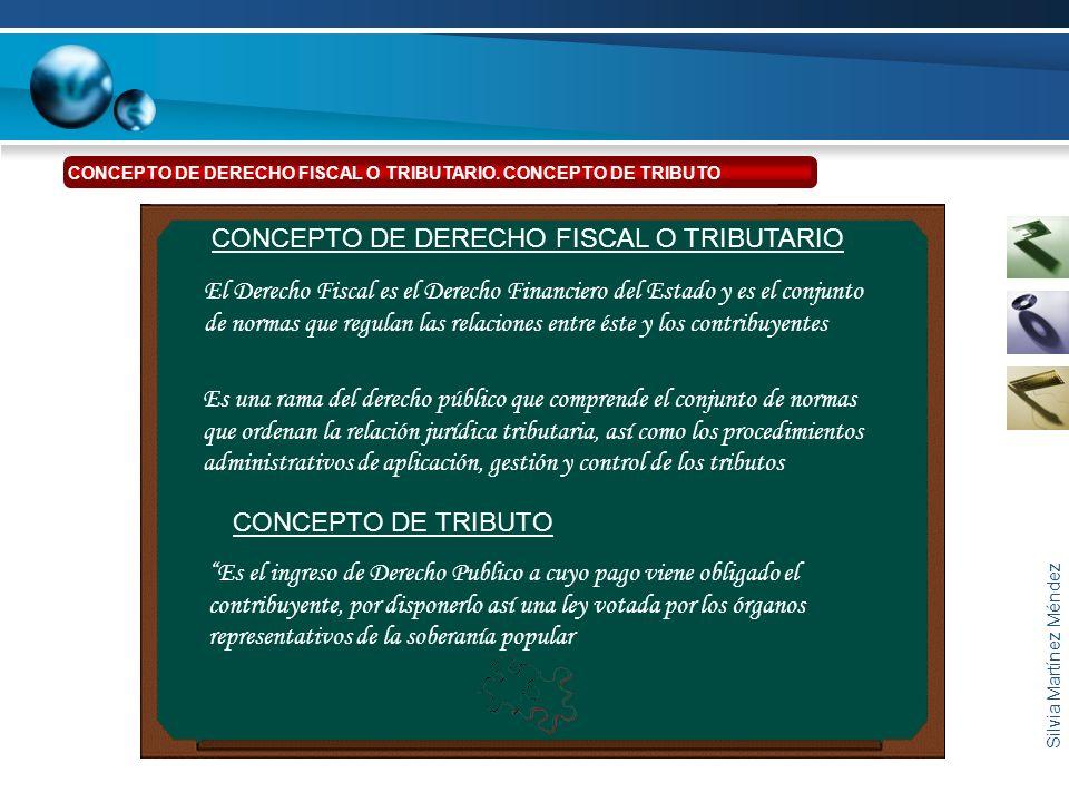 CONCEPTO DE DERECHO FISCAL O TRIBUTARIO