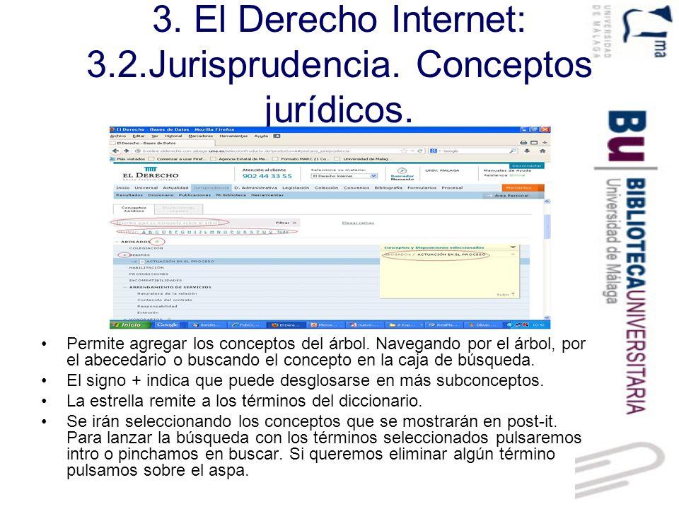 3. El Derecho Internet: 3.2.Jurisprudencia. Conceptos jurídicos.