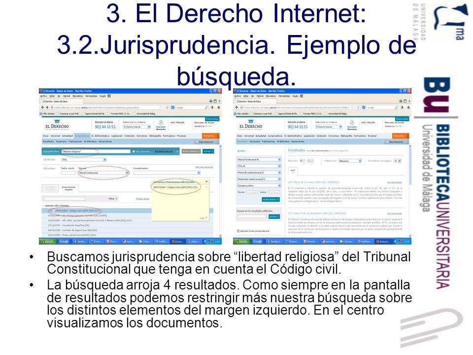 3. El Derecho Internet: 3.2.Jurisprudencia. Ejemplo de búsqueda.