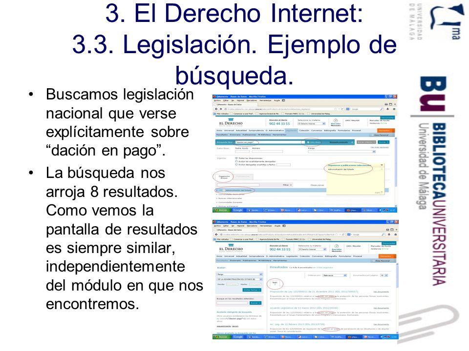 3. El Derecho Internet: 3.3. Legislación. Ejemplo de búsqueda.