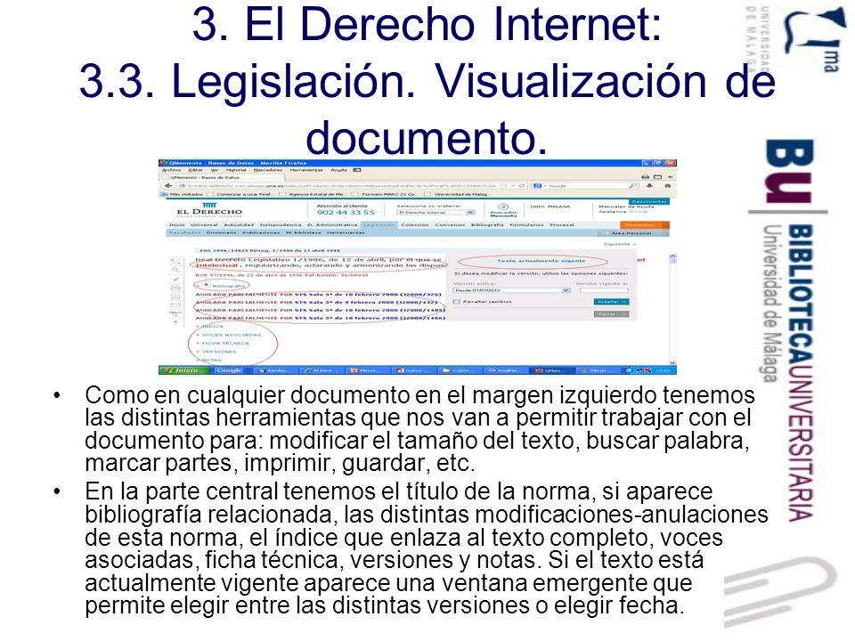 3. El Derecho Internet: 3.3. Legislación. Visualización de documento.
