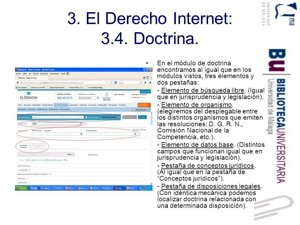 3. El Derecho Internet: 3.4. Doctrina.