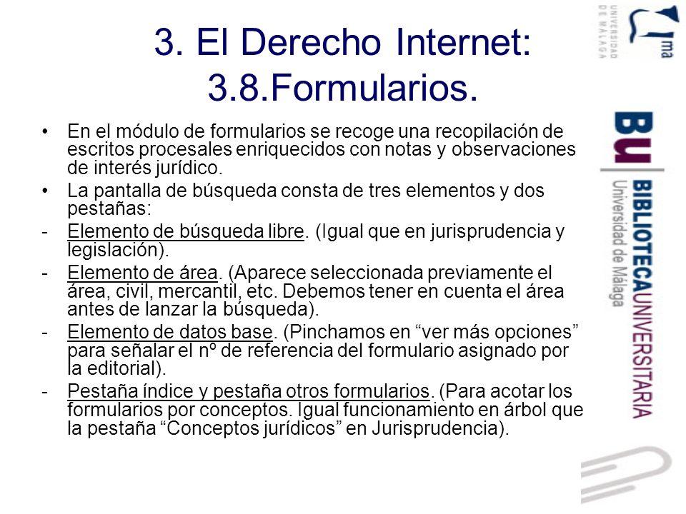 3. El Derecho Internet: 3.8.Formularios.