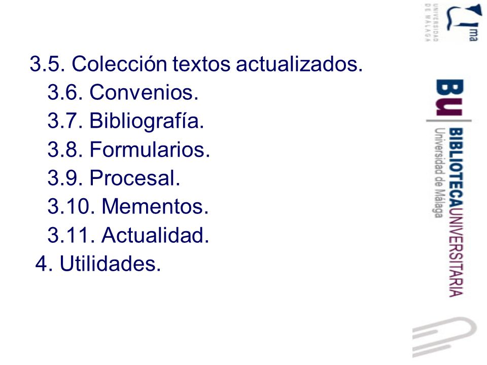 3.5. Colección textos actualizados.