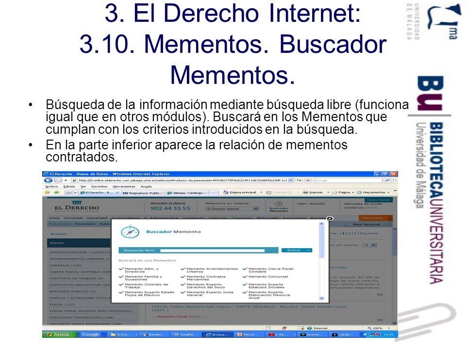 3. El Derecho Internet: 3.10. Mementos. Buscador Mementos.